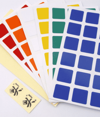 大雁原廠貼紙 三階 57mm 方形貼紙 3階 速解 WCA 比賽配色 2份 展翅 孤鴻