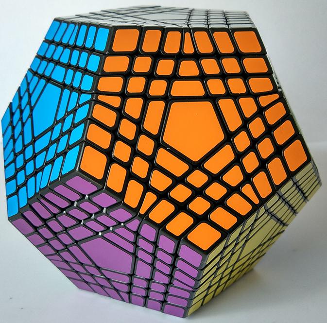 聖手 七階五魔方黑色 異形魔術方塊 5魔方 7階 玩具 puzzle 解謎 megaminx mega
