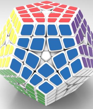 FO 聖手四階五魔方黑色 異形魔術方塊 5魔方 4階 玩具 puzzle 解謎 megaminx mega