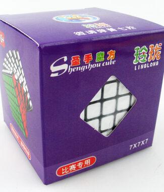 聖手小七階玲瓏 68mm 黑色白色魔術方塊 7階速解 七階 不附備用貼紙