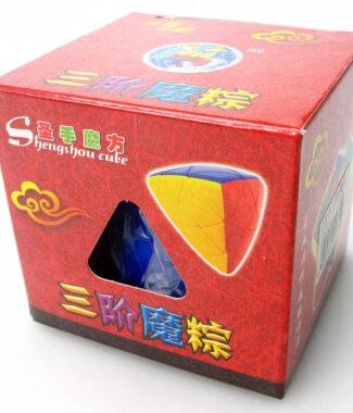 聖手 魔粽 彩色 魔術方塊 三階 概念方塊 3階 無貼紙 異形 粽子 四色 六色