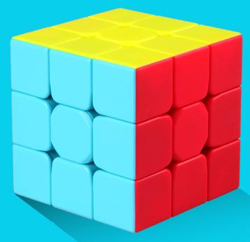 FO 奇藝魔方格 勇士W 升級版 二代 魔術方塊 彩色 無貼紙 炫亮六色新配色 三階 3階 3*3*3 勇士