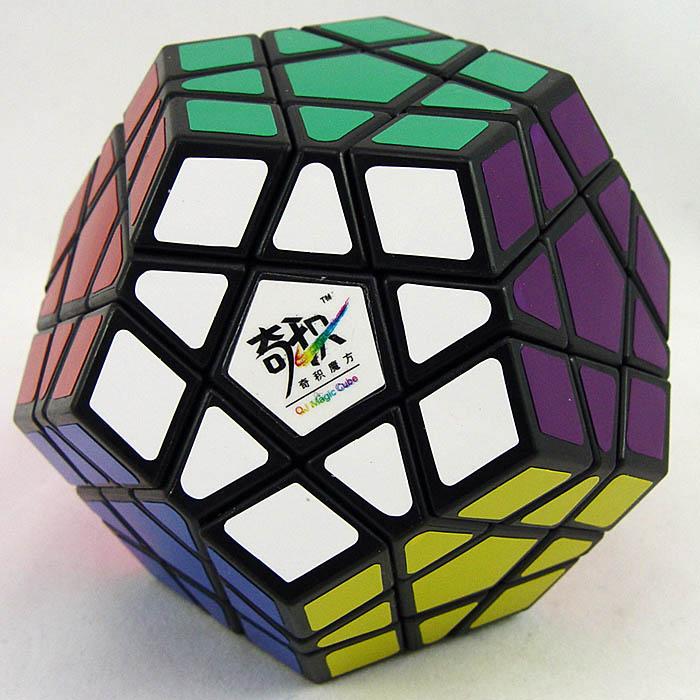 奇積 megaminx 黑色白色異形魔術方塊 奇蹟 QJ 三階五魔方