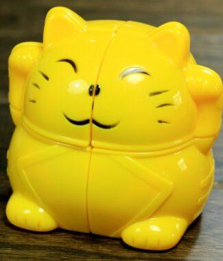 FO 永駿 招財貓 黃色 二階 概念魔術方塊 2階 永駿文化 魔方 速解品牌 可愛 異形 招財