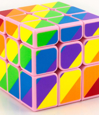 永駿不等階三階彩色彩虹 魔術方塊 3階 黑色 異形 魔方 速解品牌 永駿文化 魔域