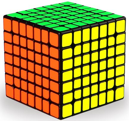 奇藝魔方格 無極 彩色 六色 無貼紙 6色 七階 魔術方塊 7階 速解 魔方 高階 7*7