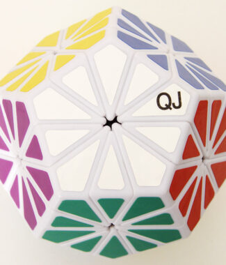 奇積菊花 Pyraminx Crystal 黑色異形魔術方塊 QJ 奇蹟菊花五魔方