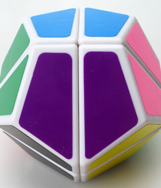 藍藍 二階十二面體 黑色 白色 魔術方塊 異形魔方 益智玩具 2階12面體