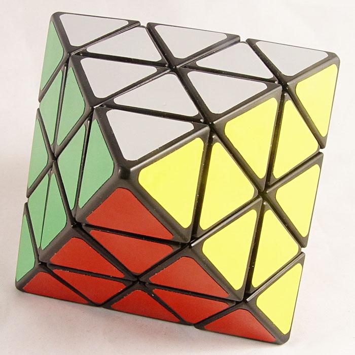 藍藍 轉面正八面體黑色 正8面體 異形魔術方塊 轉120度 八軸八面體