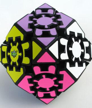 藍藍齒輪十二稜面體 黑色 異形 魔術方塊 12面體魔方 玩具