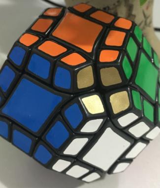 藍藍 十二軸 十二面體 黑色 12軸 12 12面 魔術方塊 異形 魔方 速解品牌 lanlan 玩具