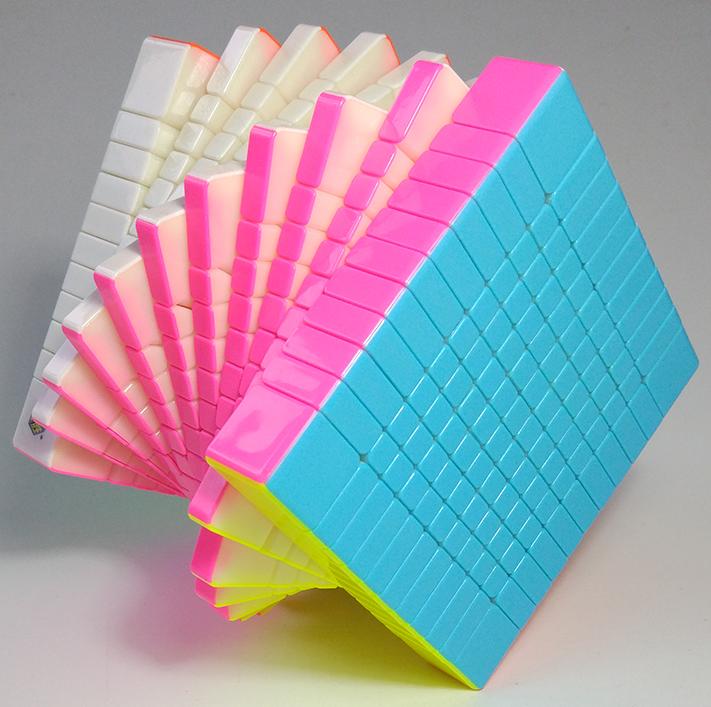FO 裕鑫 智勝 黃龍 11階 速解 方形 高階 十一階 魔術方塊 11*11 新品 六色彩色無貼紙 6色