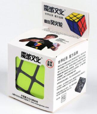 魔域瘋狂風火輪黑白色三階概念魔術方塊 3階永駿文化 異形 魔方