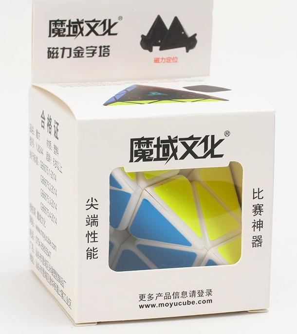 FO 魔域磁力金字塔黑色白色六色魔術方塊 pyraminx 三階3階速解魔術方塊 六色