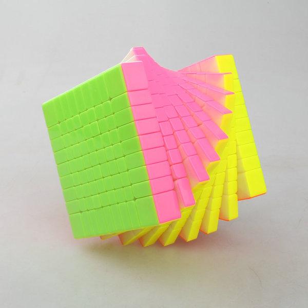 FO 裕鑫 智勝 黃龍 九階 魔術方塊 高階 9階 速解 魔方 彩色 無貼紙 六色 6色
