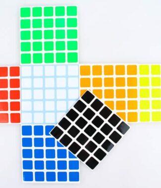 魔術方塊Z貼聖手五階Z亮普亮半亮貼紙 5階魔方專用64.5mm