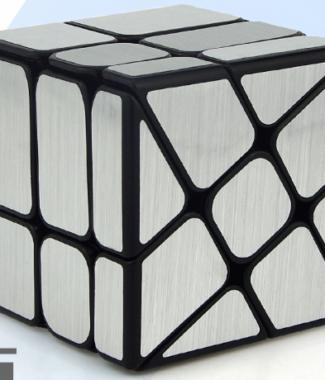魔方教室 鏡面風火輪 魔術方塊 拉絲金屬效果 三階概念魔方 異形 3階 永駿文化 魔域 鏡面
