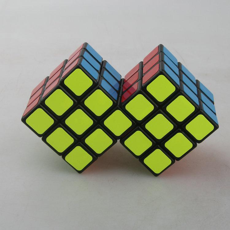 梯色三階二連三連體魔術方塊黑 CT 限制旋轉
