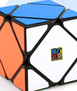 魅龍 斜轉 魔方教室 魔術方塊 skewb 速解魔方 SK 異形 魔域工廠 黑色 白色 6色 六色