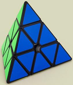 FO 魔方教室三階金字塔魔術方塊 pyraminx 3階 速解魔術方塊永駿 四色 4色 黑色 白色
