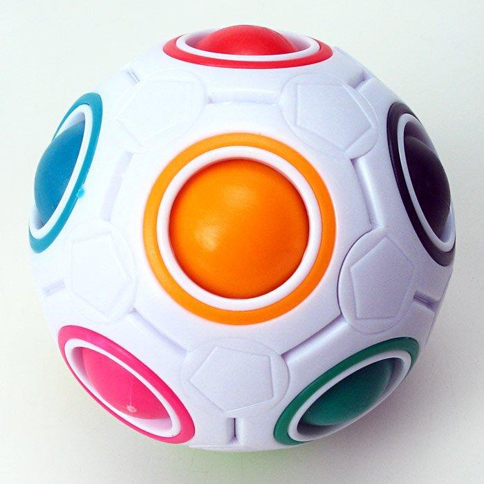 FO 智力彩虹球 魔力球 12孔 按壓式玩具 永駿文化 紓壓 兒童益智玩具 配顏色 海綿 7CM