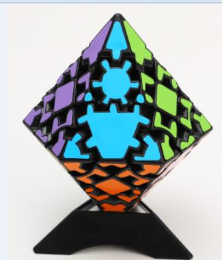藍藍12面體錐 齒輪異形魔術方塊 益智玩具魔方 lanlan 十二面體 齒輪錐 黑