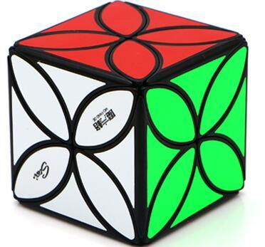 FO 奇藝魔方格 四葉草 異形 魔術方塊 速解魔方 彈頭包裝 4葉草