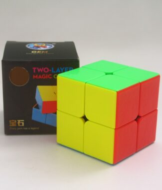 FO 聖手 寶石 二階 彩色 粗糙面 2階 魔術方塊 SS 速解 魔方 無貼紙 六色 6色 有螺絲 可拆
