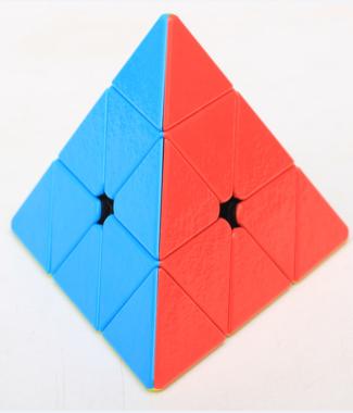 聖手 寶石金字塔 三階金字塔 彩色 3階 魔術方塊 SS 速解 魔方 無貼紙 有螺絲 可拆
