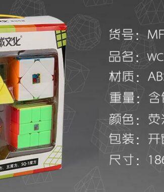 魅龍 魔方教室異形禮盒 WCA 官方比賽項目 速解 魔方 金字塔 斜轉 五魔方 SQ 彩色 魔域