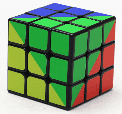 Z-cube 彩虹魔方 UV印刷 造型三階 速解 魔方 魔術方塊 3階 益智玩具 Z cube