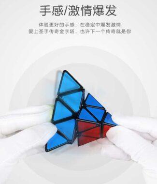FO 聖手 傳奇金字塔 三階金字塔 彩色 3階 魔術方塊 SS 速解 魔方 無貼紙 有螺絲 可拆