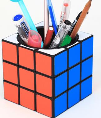 FO Z-cube 筆筒 三階 大方塊 黑底貼紙版 魔術方塊 z cube 3階 收納 特色