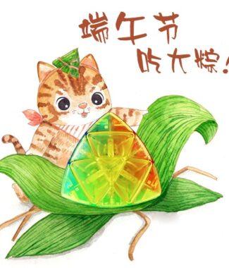 魔方格 透明 粽子 彩色 無貼紙  異形 魔方 三階概念方塊 四色 4色 魔粽 魔術方塊