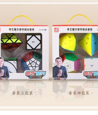 FO 奇藝魔方格 套裝 二階三階四階五階 禮盒 粽子 斜轉 金字塔 五魔方 魔術方塊 四件套 速解魔方