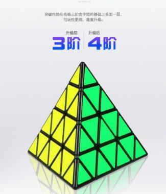 FO 魔方格 四階金字塔 奇藝工廠 魔術方塊 原廠 速解 魔方 4階 金字塔 益智玩具 黑底 黑色