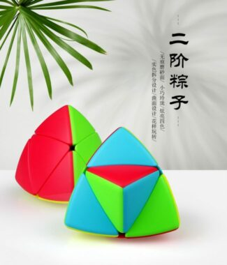 FO 魔方格 奇藝 二階粽子 彩色 無貼紙  異形 魔方 三階概念方塊 四色 4色 魔粽 魔術方塊 益智玩具