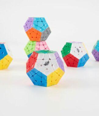 木瓜 五魔方 雕刻彩色 旋風小子 速解 魔術方塊 WCA 比賽 異形 魔方 mega 魔友 三階 3階