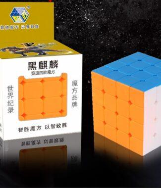 FO 裕鑫 黑麒麟 四階 超便宜 60mm 彩色 磨砂面 4階 6CM 速解 無貼紙 智勝 益智玩具