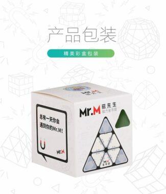 FO 聖手 磁先生 金字塔 MR M 異形 三階 彩色 波浪紋理 3階 魔術方塊 速解 魔方 無貼紙 MRM