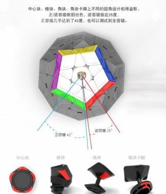 FO 魔方格 星五魔二代L版 磁力 XMD 三階 megaminx 彩色 mega 2代 異形魔術方塊 雕刻 奇藝