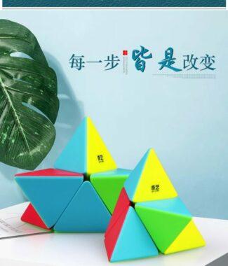 FO 奇藝 二階金字塔 彩色 速解 魔術方塊 異形 魔方 益智玩具 魔方格 2階 pyraminx