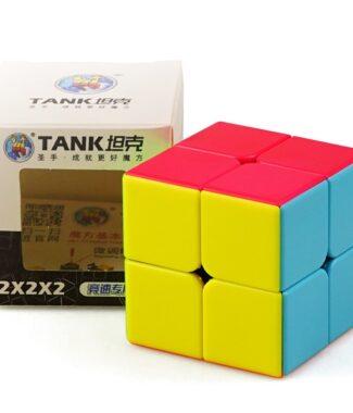 FO 聖手 坦克 二階 速解 魔術方塊 2階 彩色 磨砂 2×2 50mm