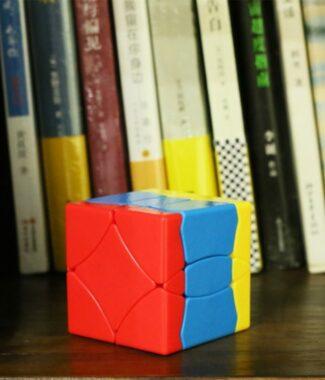 FO聖手一號 百鳥朝鳳 異形 魔術方塊 比三階簡單 轉180度 彩色 光華 寶石面 1號 魔方 益智玩具