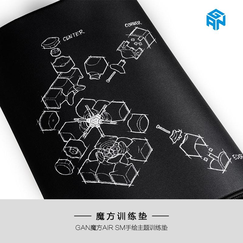 FO gan 訓練墊 SM 手繪 黑色 魔術方塊專用 速解 魔方 墊子 大墊 小墊 厚度3mm