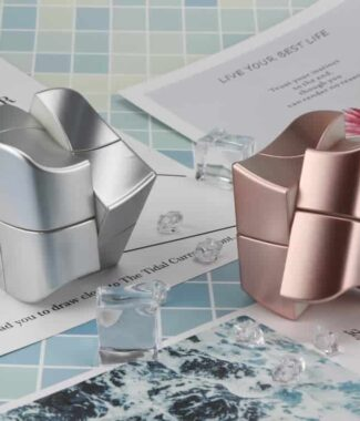 FO 圓方二階 永駿文化 魔術方塊 圓方 二階 概念方塊 速解品牌 魔方 異形 玫瑰金 銀