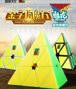 FO 魅龍 三階金字塔 魔方教室 3階 金字塔 速解 魔域 磨砂 益智玩具 異形 兒童 pyraminx