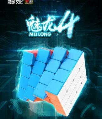 FO 魅龍 四階 魔方教室 4階 速解 魔術方塊 魔域 魔方 磨砂 付解法書 59mm 益智玩具