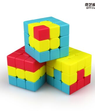 FO 兒童入門 方塊 三明治 凹凸魔方 獨角獸 三階 魔術方塊 新手 簡單 速解 益智玩具 奇藝 魔方格