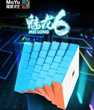 FO 魅龍 六階 魔方教室 6階 速解 魔術方塊 魔域 魔方 磨砂 付解法書 65mm 益智玩具